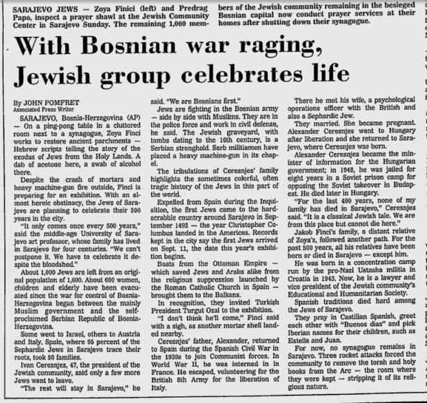 Jews with Muslims Bosnia