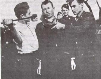 With blessing of Roman catholic clergy: Croats torturing captured Serb