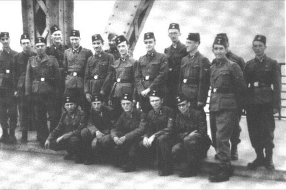 SS Troops of the Waffen 13'th SS Mountain Division 1st Croation pose for a group photo.jpg