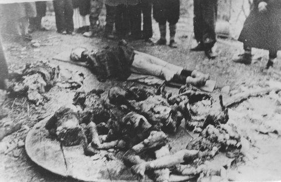 WWII 1941 Croatia NDH Doboj massacre of 40 women and children