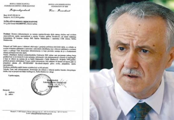 What happened with the evidence about crimes against Serbs in Bosnia and Herzegovina submitted by Mr. Kebo three years ago?