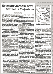 Kosovo in a NewYorkTimes 1982's report