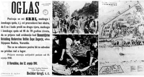 22. April – Remembrance day of Croatian genocide of Serbs, Roma and Jews in Jasenovac