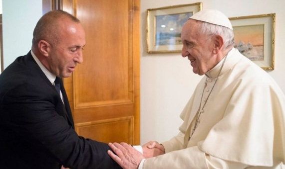 Image result for Ramush Haradinaj in Vatican